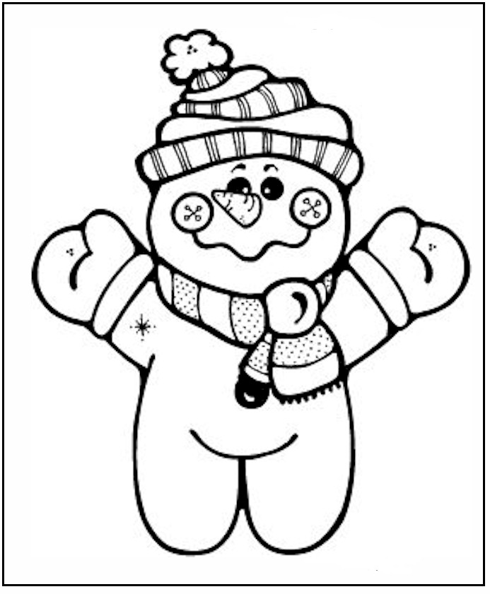 Little Baby Snowman Print Coloring Pages For Kids Free Printable