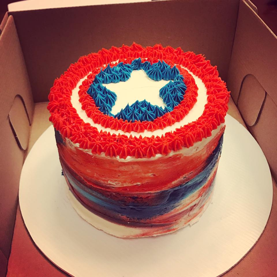 Captain America Kuchen Captain America Cake Copy Kids Events In The Green Bay Area