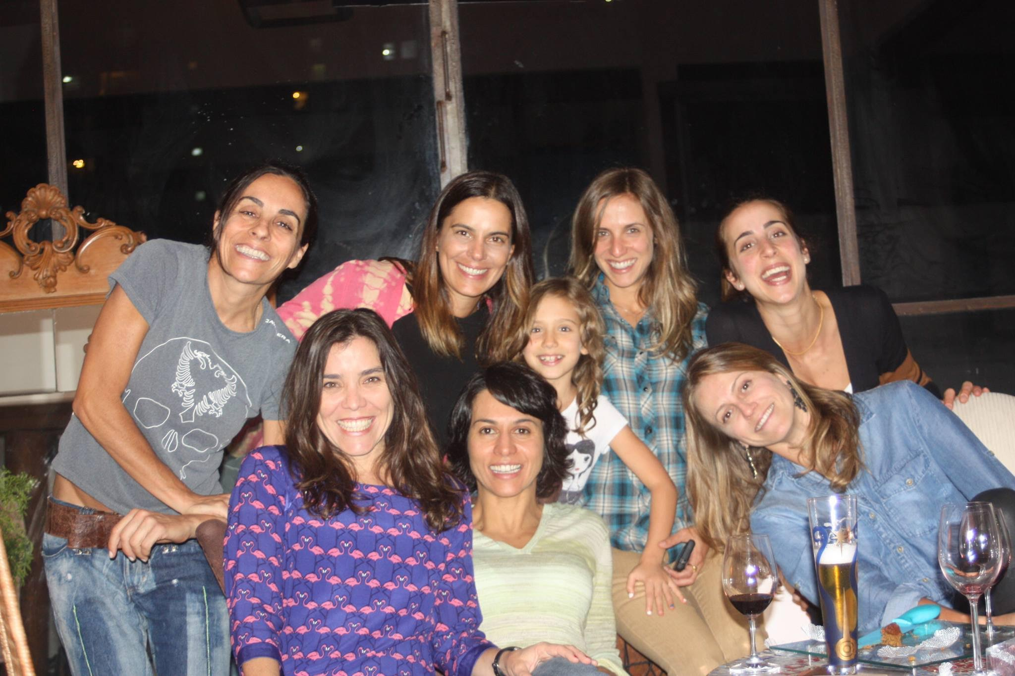 Friends gathering in November 2012. From the left to the right, standing: Cris, Shubi, Bebel, Marie and Mati. Sitting: Cau, Belô and Vivi