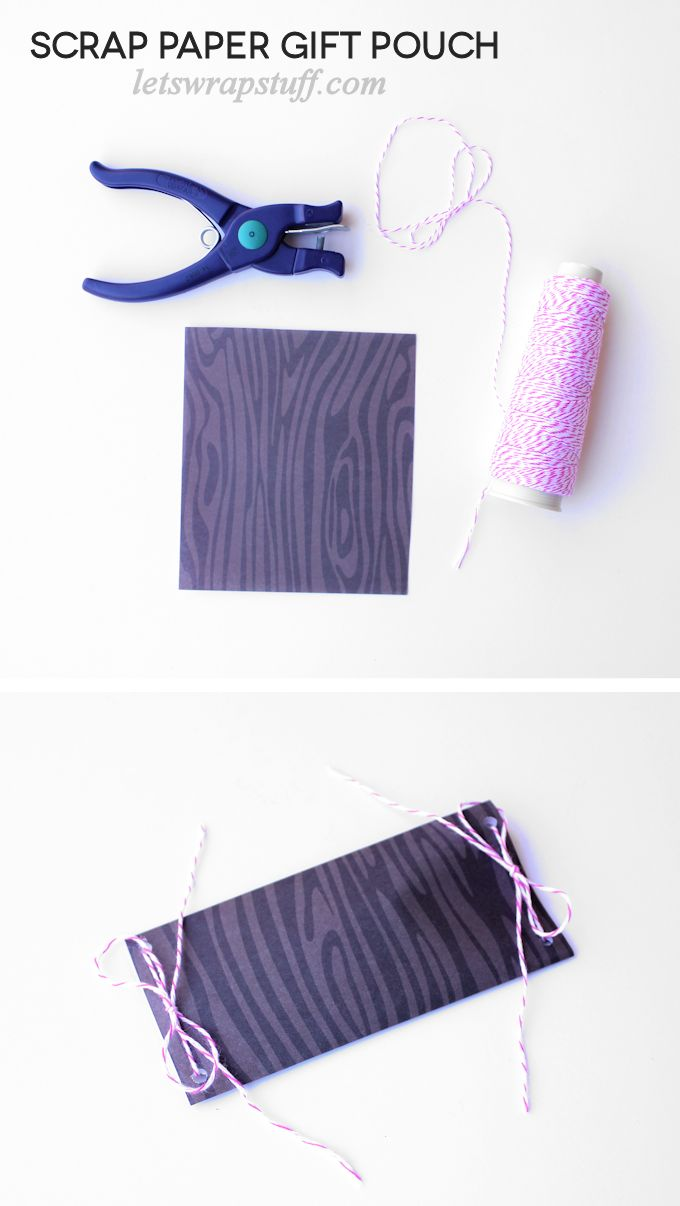 Scrap Paper Gift Pouches
