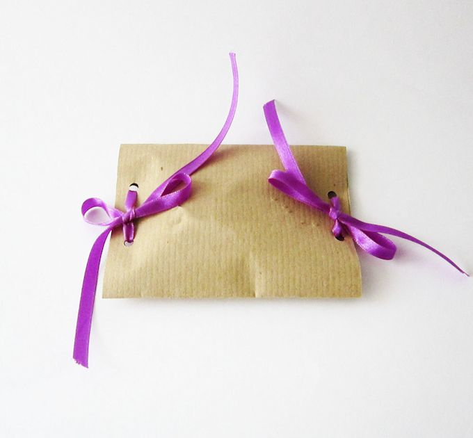 Simple Creative Gift Wrap - turn scraps of paper and ribbon into paper gift pouches