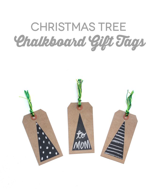 Christmas Tree Chalkboard Gift Tags - Let's Wrap Stuff