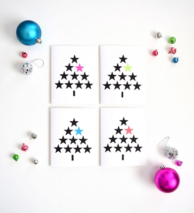Diy modern christmas cards lets wrap stuff diy modern christmas cards m4hsunfo
