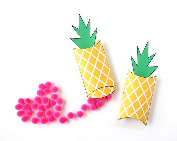 diy pineapple boxes