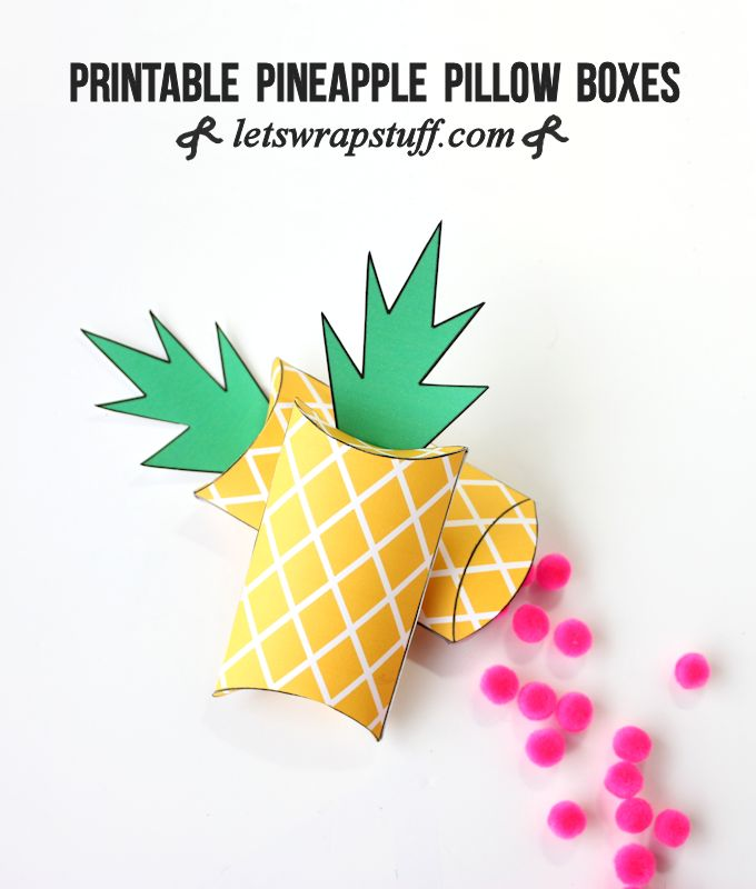 photograph relating to Printable Boxes identify Printable Pineapple Present Packing containers - Will allow Wrap Things