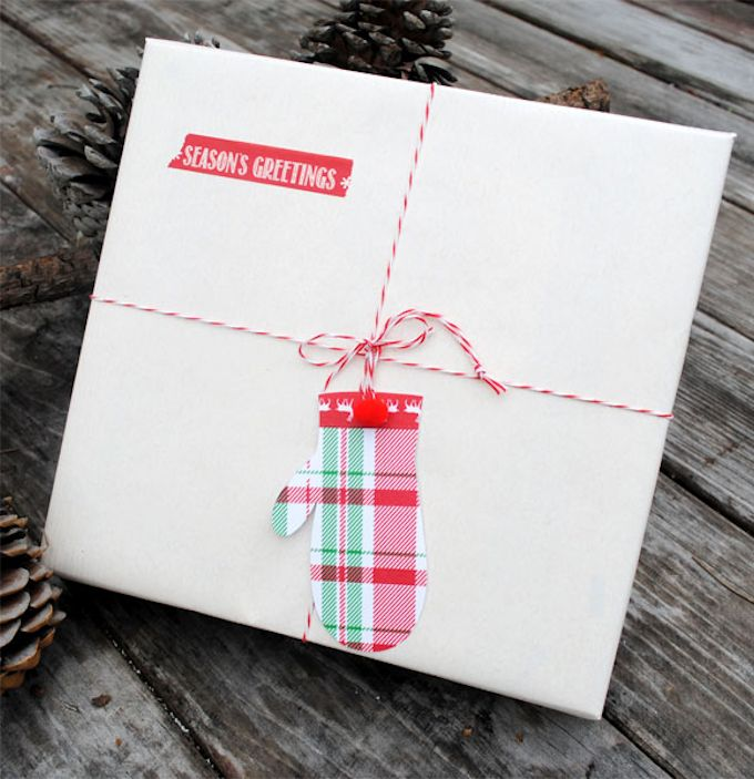 Washi Tape Mitten Gift Tags