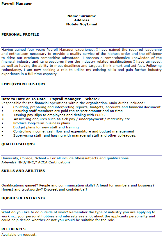 payroll manager resume writing a cv nurse professional resumes example online