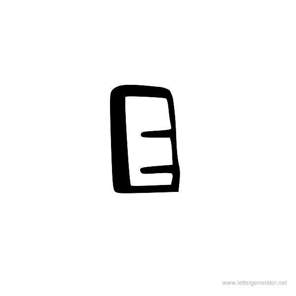 Block Letter E - Aildocproductosebhuge printable letters free