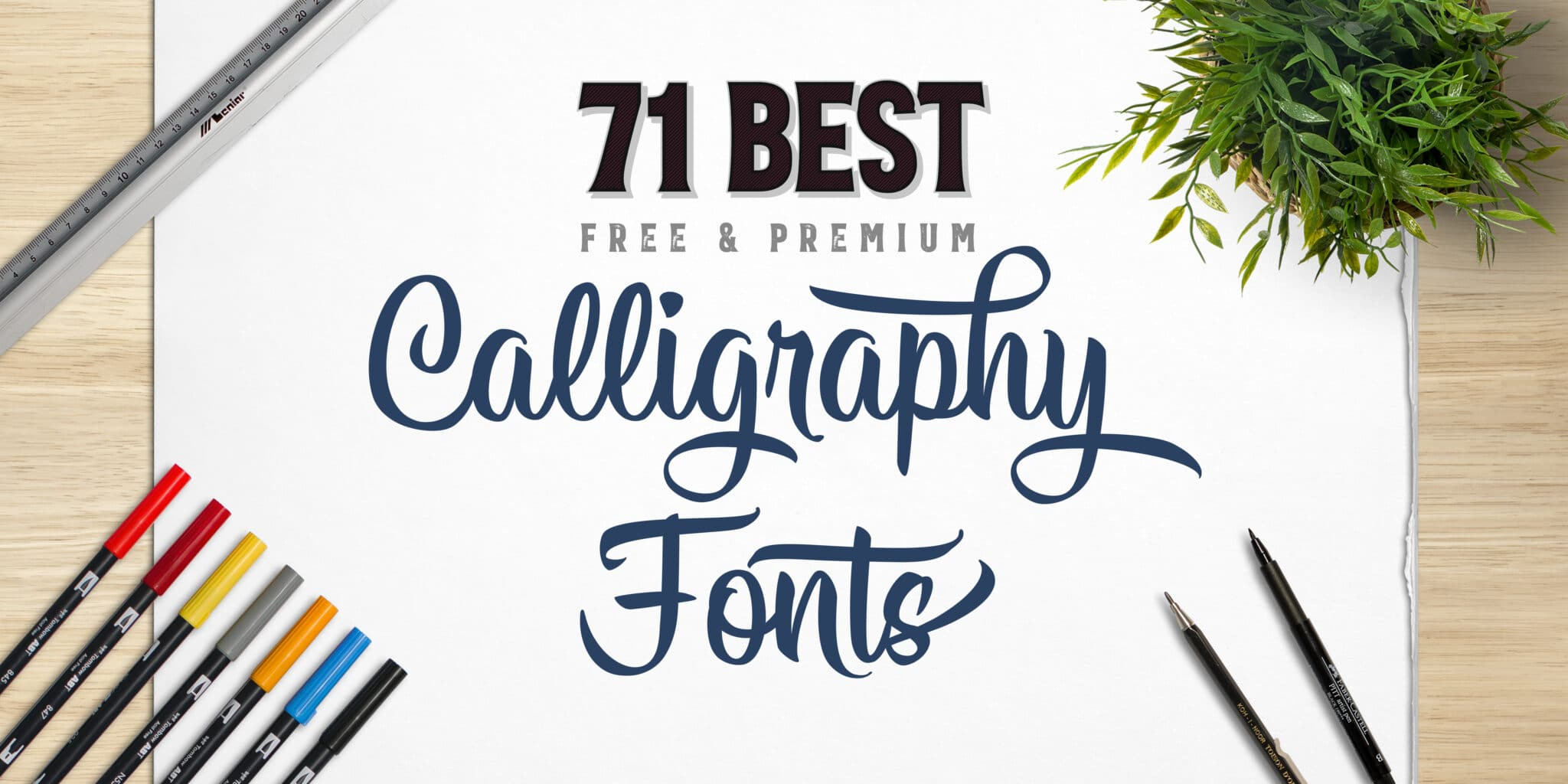 71 Of The Best Calligraphy Fonts Free Premium Lettering Daily