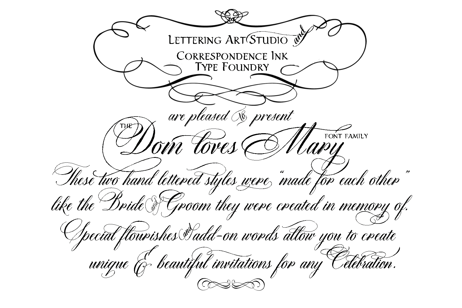 Calligraphy Fonts List Dom Loves Mary Calligraphy Font Is Launched Lettering Art Studio