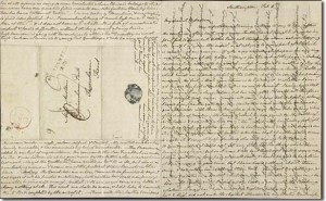 A crossed letter by Jane Austen