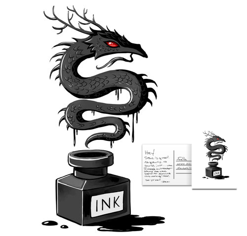 Ink Dragon by freeminds