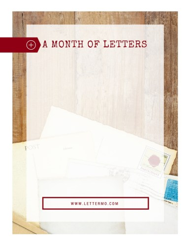 A month of Letters letterhead for Patreon