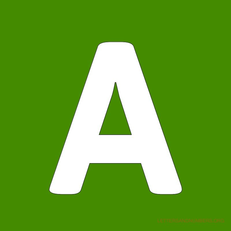 Free Alphabet Letters A to Z Green Letters and Numbers Org