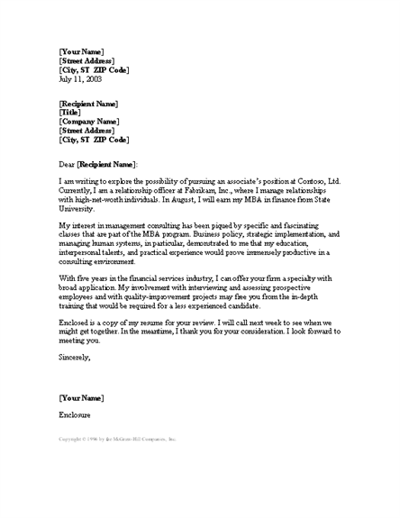 management consulting cover letter consulting cover letter samples ...