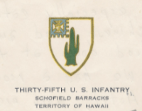 35th US Infantry, Schofield Barracks