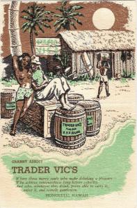 Trader Vics Menu 1941