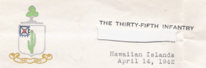 35th Infantry Letterhead