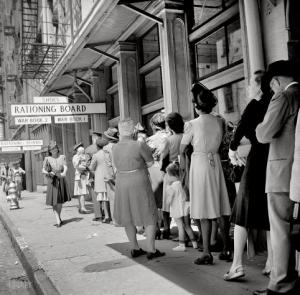 The shoe ration line