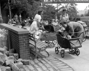 Women With Strollers In The Park, August 1943