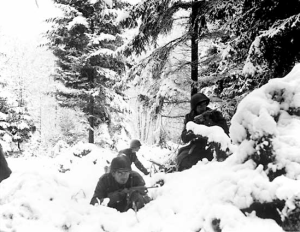American Troops In The Ardennes, Battle Of The Bulge