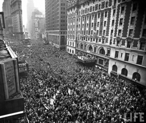 VE Day Celebrations In Times Square