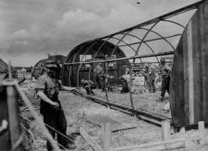 German POWs Build Barracks, Belgium