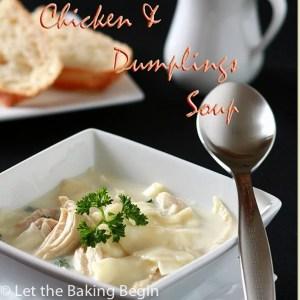 Chicken & Dumplings Soup