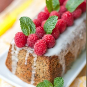 Poppy Seed Cake w/ Lemon Glaze
