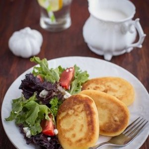 Soft & Pillowy Potato Pancakes, Sauteed in Butter