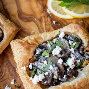Creamy Mushroom & Goat Cheese Tart