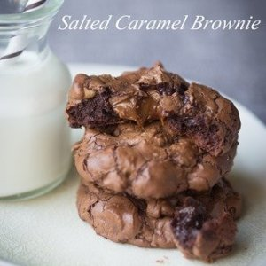 Double Chocolate Salted Caramel Brownie