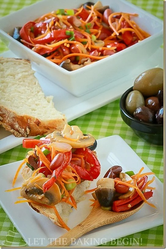 Beautiful salad that just bursts with flavor and adds the so needed boost of vitamins during winter.