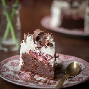 Flourless Black Forest Chocolate Cake