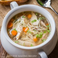 Crock Pot Chicken Noodle Soup & Beach Getaway
