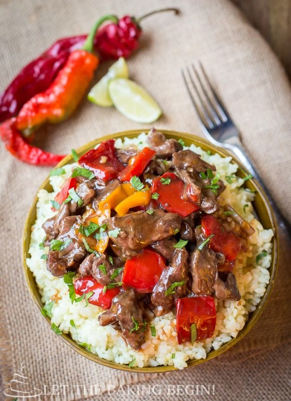 Slow Cooker Spicy Beef & Bell Pepper - Clean, healthy and delicious, all in one! Doesn't get better than this! by Let the Baking Begin! #slow cooker #recipe #crockpot #beef #bell pepper #easy