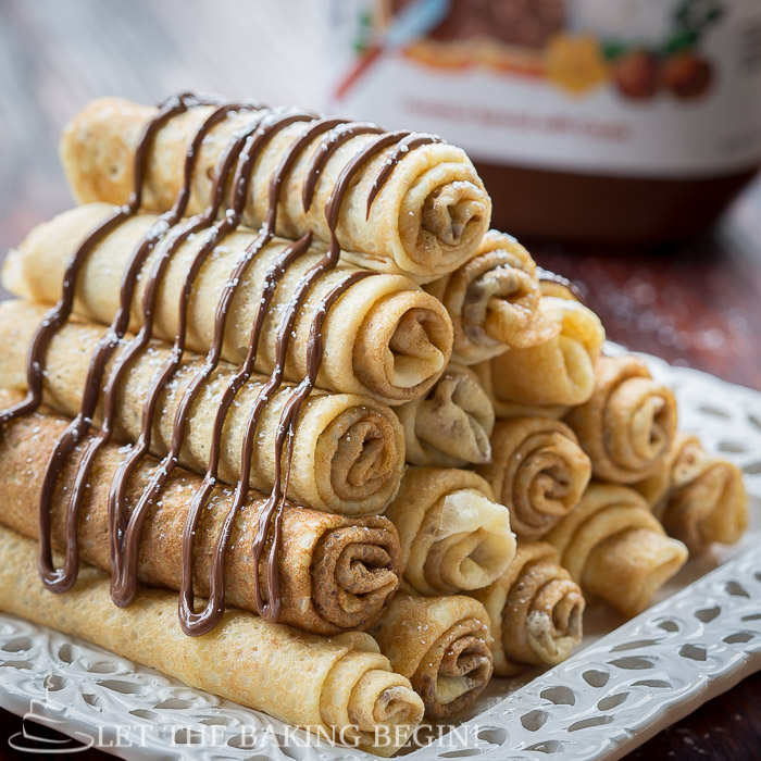 Nutella Stuffed Crepes & 3 Ways to Fold Them