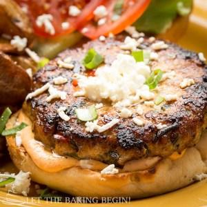 Juicy Chicken Feta Burger
