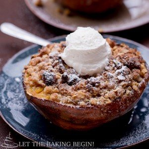 Acorn Squash with Apples and Walnut-Oat Crumble