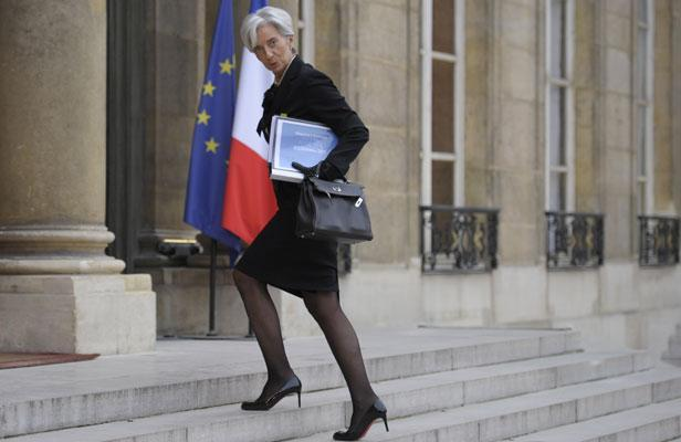 Christine Lagarde... at the Elysée...