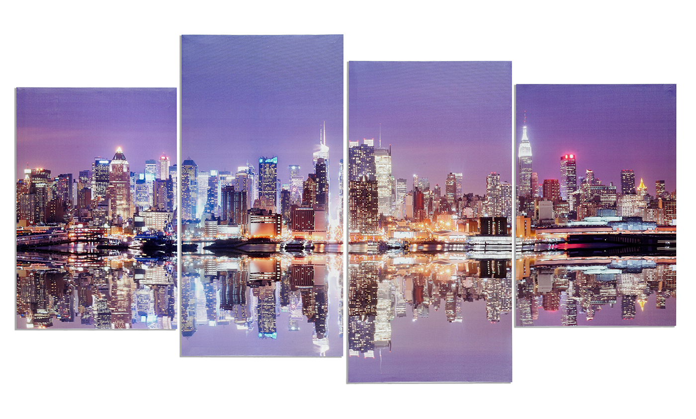 Bild New York Skyline Wandbild 4 Teilig Manhattan Skyline New York Usa Amerika