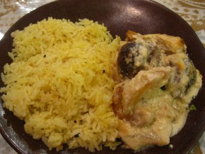 Kofta with rice