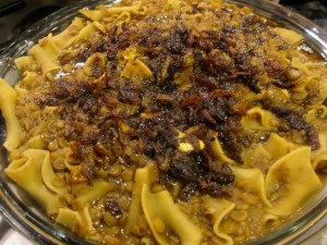 Reshta - Stewed Lentils and Noodles with Tangy Caramelized Onions   The Levantess