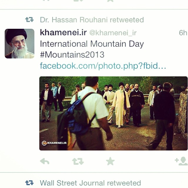 Dr. Hassan Rohani retweeted! Is it only funny to me?