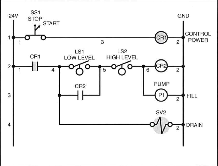 water pump control wiring diagram