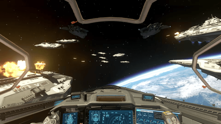 The space combat is fun and offers some interesting setpieces