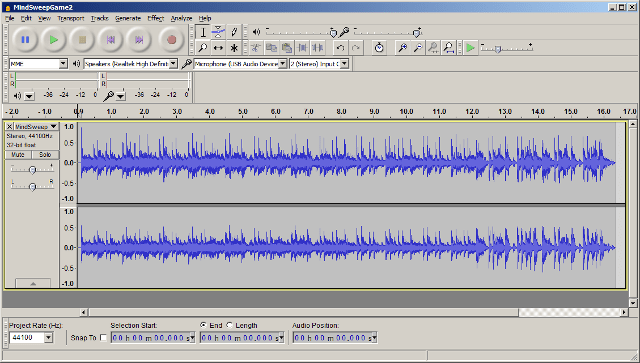 Trimming music in Audacity