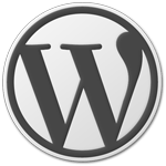 wordpress grey logo