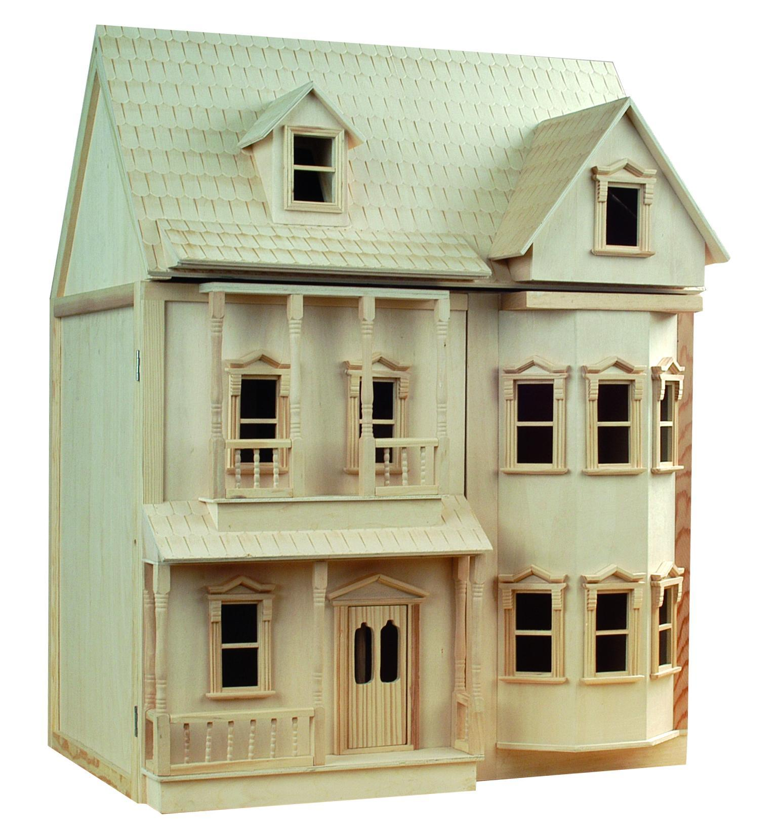 The Dolls House Le Wooden Toy Buy Victorian 1 12th Scale Wooden Doll House