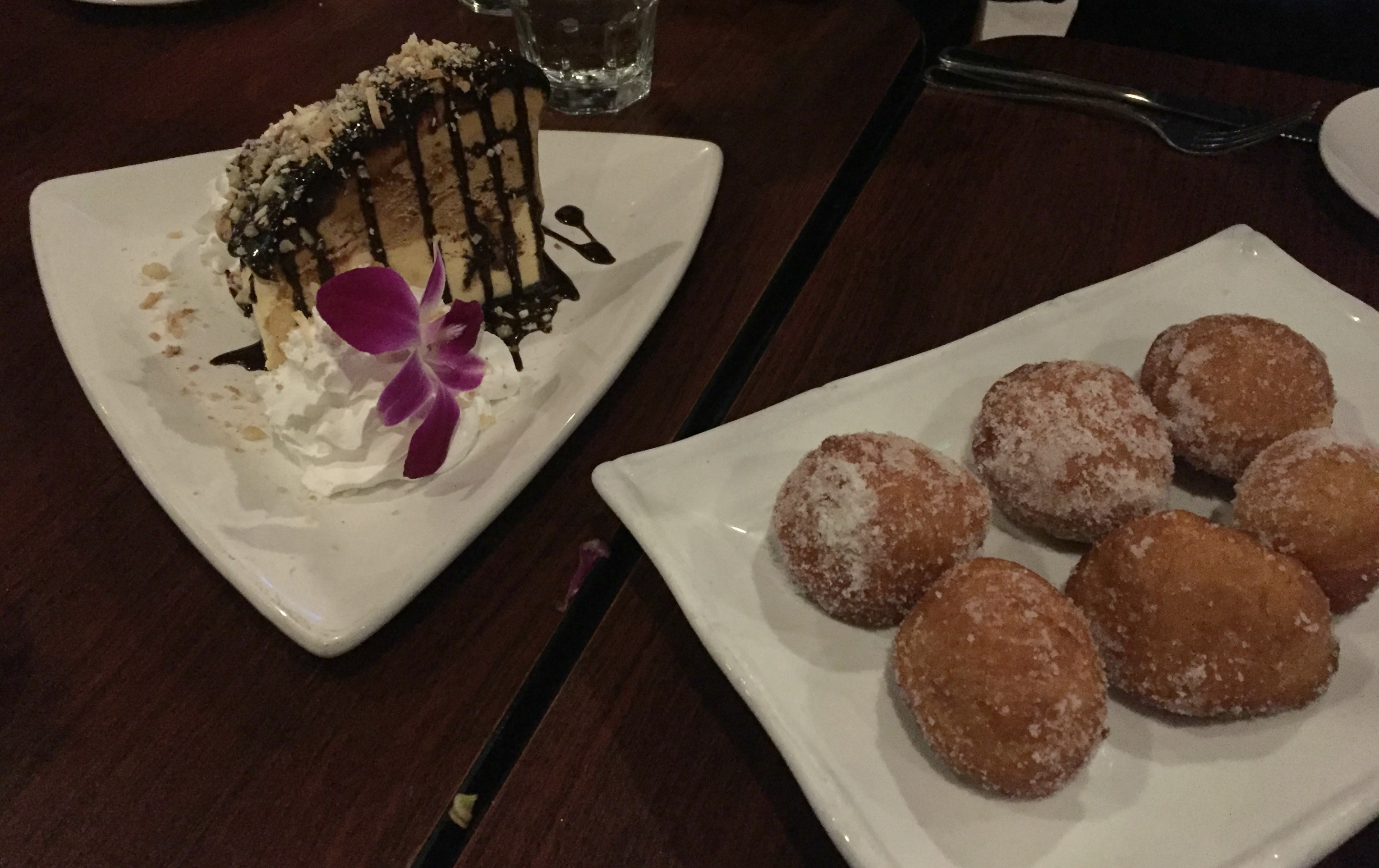 Noelani's Mud Pie and Malasadas